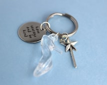 Cinderella, Disney Gift, Glass Slipper, Keychain, Quirky Gift, Disney, Disney Princess, Have Courage and Be Kind