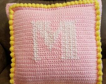 Monogrammed Princess Pillow