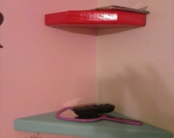 10% sale 20 Percent discount on 2 corner floating shelves  1.5 inches thick