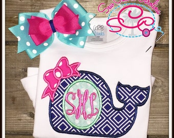 Personalized Monogrammed Whale Shirt/Bodysuit