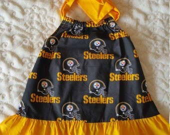 Football Pittsburgh Steelers Baby Dress 3 Months &  12 Month