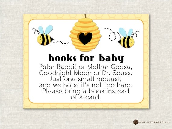 bring a book instead of card bring a book baby shower bring a book
