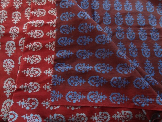 Block print fabric cotton fabric by yard indian fabric for Designer fabric suppliers