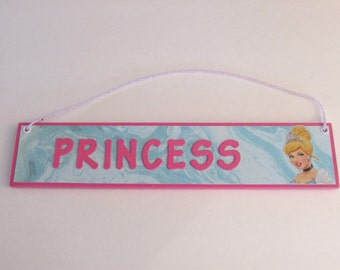 Disney Princess Cinderella Room Decor Sign - Cinderella Door Sign - Princess Room Decor - Princess Room Sign