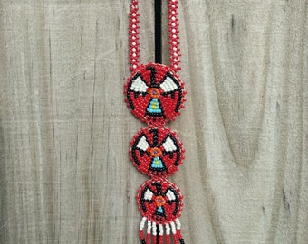 Native American Beaded Necklace. Tribal Necklace. Beaded Necklace. Native American Necklace. Vintage Necklace.