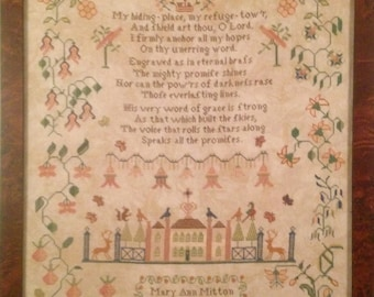 Mary Ann Mitton 1832, a reproduction sampler