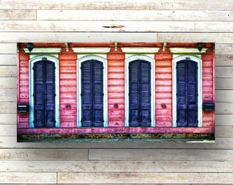 BLACK SHUTTERS - New Orleans art - French Quarter Doors - Architecture - Door Photography
