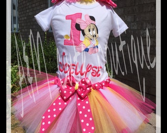 Baby Mini mouse  tutu set