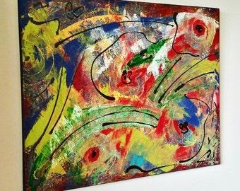 Original Abstract Painting, Modern Wall Art, Oversize Painting, 30 x 24, Colorful Painting, Painting on Canvas, Modern Home Decor