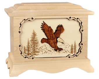 Maple Eagle Ambassador Wood Cremation Urn