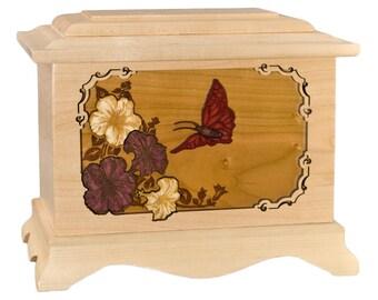 Maple Butterfly Ambassador Wood Cremation Urn