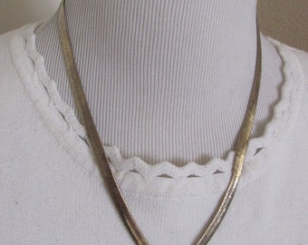 "Necklace Beautiful Gold Plated Chain 19"" Inch Long Necklace Choker  (3D)"