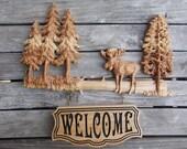 Moose Sign, Moose Decor, ...