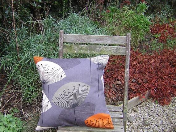Cushion Cover - Sanderson Dandelion Clocks Fabric - Slate