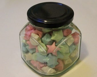 Jar of 100 Origami Lucky Stars