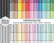Herringbone Digital Paper, Broken Chevron Pattern Stock Photos, Printable Backgrounds, Triangle Illustrations, V Shape Arrows, Jagged Lines