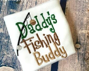 Daddys Fishing Buddy Baby Boy Bodysuit, Fishing Baby Shirt