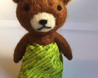Teddy Bear, Needle Felted, Waldorf Toy, Montessori Toy, Imaginative Play, Storytelling