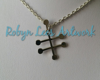 Silver Vodka Alcohol Molecule Necklace on Silver Crossed Chain or Black Faux Suede Cord, Chemistry