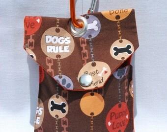 Brown Dogs Rule Dog Treat Clip On Bag Dog Training Bag Dog Walking Leash Bag