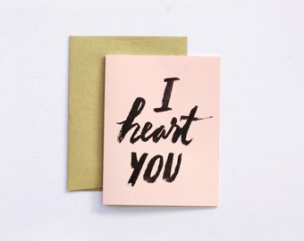 I heard you greeting card // stationery // watercolor lettering