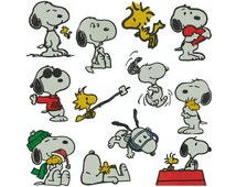SNOOPY - Machine Embroidery - Patterns - Instant Digital Download