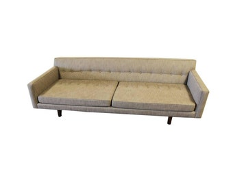 Vintage Edward Wormley for Dunbar Bracket Back Mid Century Modern Sofa 1950's