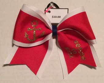 Refuse to Sink Cheerleading Bow