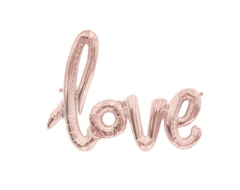 Pink Love Balloon Bridal Shower Decoration Script balloon blush letter balloons wedding baby shower balloons blush pink foil balloon