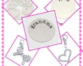 New large Stamped Plates & Swing Charms for your NoveLocket memory lockets