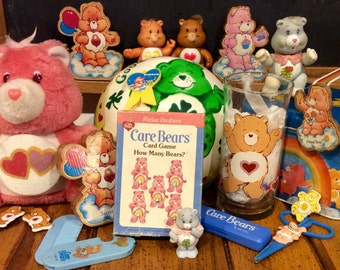 Giant Vintage Care Bear Mixed Lot, 1980s Care Bear Collectibles, Care Bears, Tenderheart Care Bear, Collectible Care Bears, Good Luck Bear