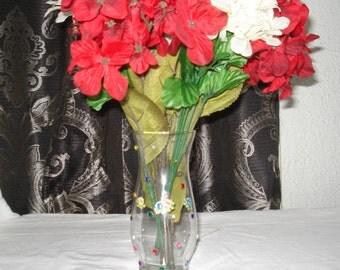 Glass vases with Rhinestones