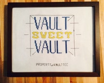 Fallout inspired Vault sweet vault framed wall hanging