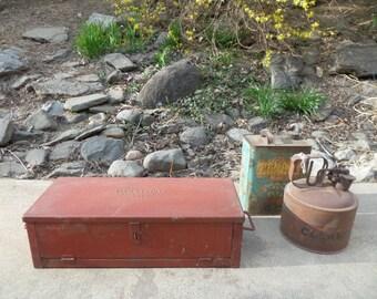 Vintage Tool Chest , Vintage Machinists Chest , Vintage Toolbox , Steel Toolbox