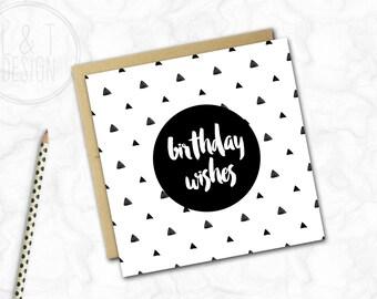 Birthday Card {TRIANGLES}