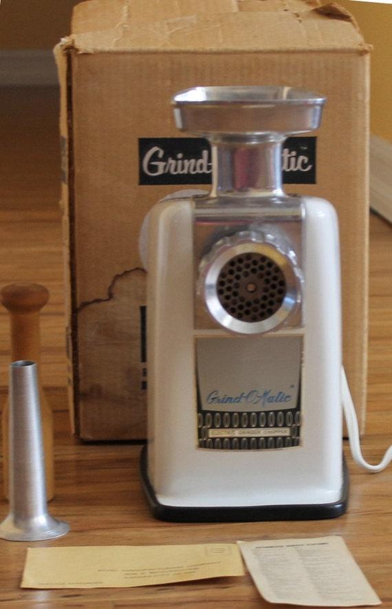 Antique Electric Grinder ~ Vintage rival grind o matic electric meat grinder chopper