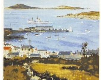 Vintage Isles of Scilly Railway Poster A3 Reprint