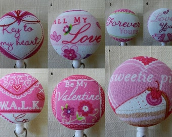 Valentine Sayings Badge reels~  Retractable ID Name Badge Holder Reel
