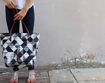 Geometric Tote Pattern by Vanessa Christensen of V and Co. for Moda