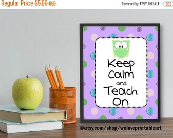 60% OFF SALE Teacher Classroom Decor, Teacher Appreciation Gift, Owl Theme, Classroom Decoration, Classroom Sign, Printable Poster, Back to