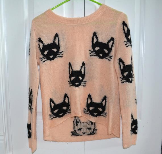 katze dame sweater vintage h ssliche weihnachts pullover. Black Bedroom Furniture Sets. Home Design Ideas
