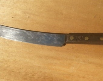 1940's Vintage Foster Bros. Curved Scimitar Butcher Knife
