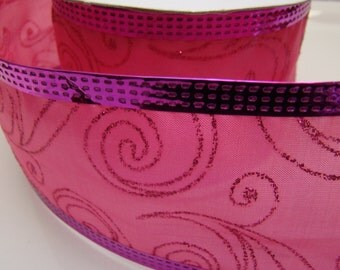 Ribbon, Hot Pink Ribbon, Pink Sparkle Ribbon