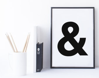 Quote Print and/or Frame - Symbol '&' (Amperstand)