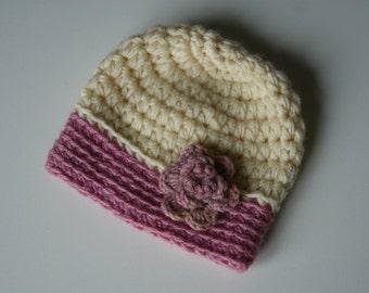 Crochet Baby Hat, Baby Girl Hat, Newborn Beanie, Baby Newborn Hat, Baby Girl Beanie, Newborn Baby Hat