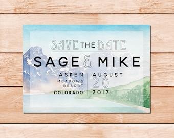 Colorado Wedding Save the Date - Colorado Wedding, Montana Wedding, Mountain Wedding