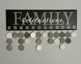 Family Birthday Board. Family CELEBRATIONS calendar. Birthday organizer
