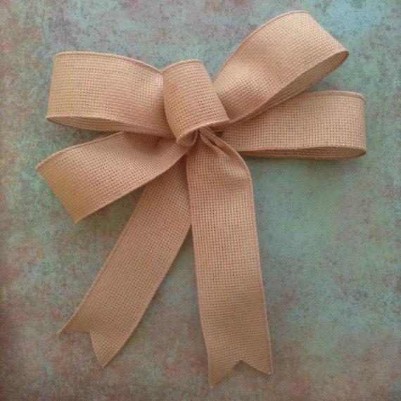 burlap decorative bow wedding burlap bow by craftsbybeba. Black Bedroom Furniture Sets. Home Design Ideas