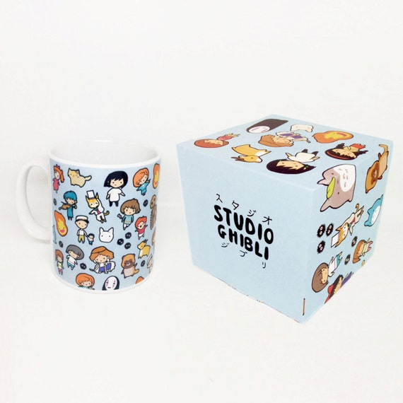 Studio Chibi Pattern-  Studio Ghibli ~ Mug and Box Set