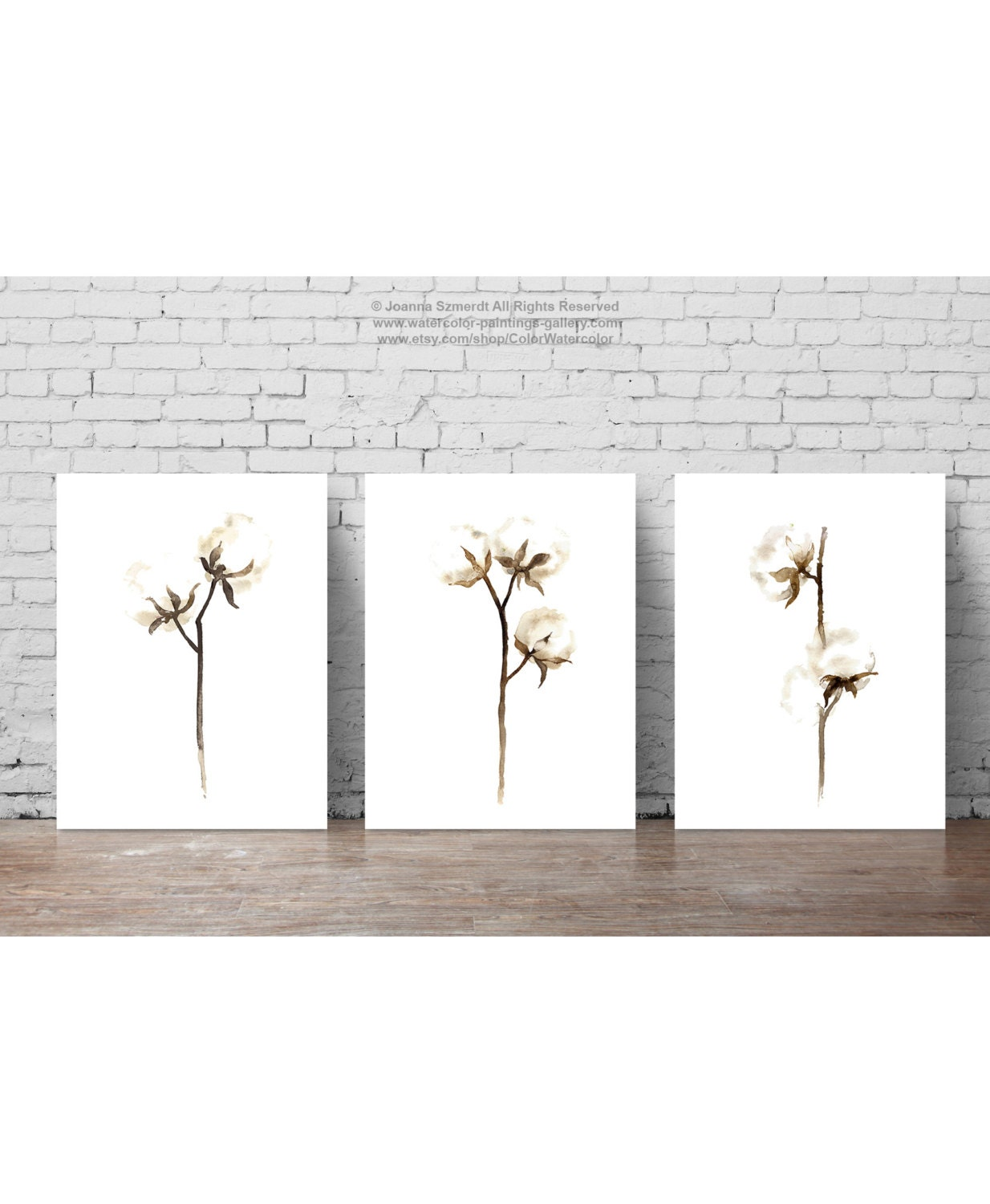 Cotton painting shabby chic decor white brown minimalist for 500 decoration details minimalism